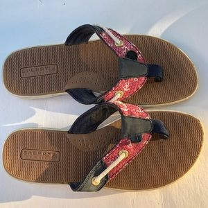 Sperry Top-Sider Anchor Thong Sandals Size 6